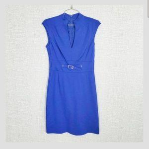 Trina Turk Blue Buckle Waist Dress <like New>T48